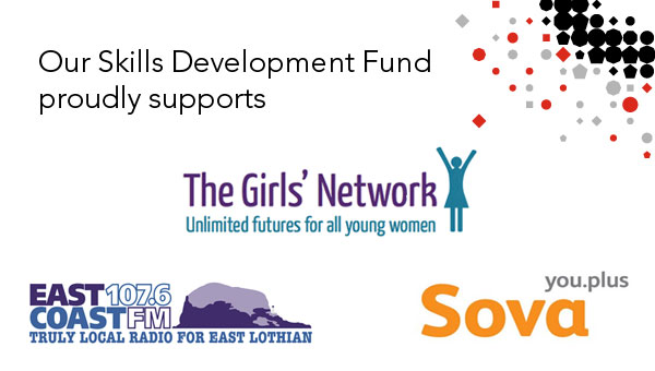 Our Skills Development Fund is proud to support The Girls' Network, East Coast FM and Sova