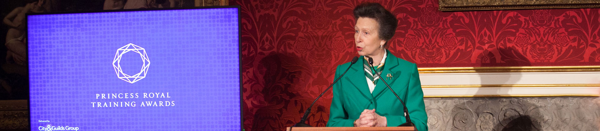 City & Guilds Group President HRH The Princess Royal at the Princess Royal Training Awards Ceremony 2016